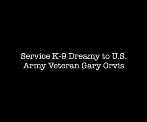 US Army Veteran Gary Orvis and Service K9 Dreamy